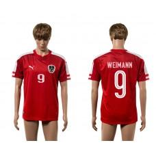 European Cup 2016 Austria home 9 Weimann red AAA+ soccer jerseys