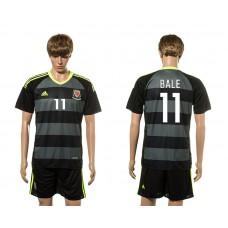 European Cup 2016 Welsh Away 11 Bale soccer jerseys