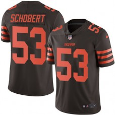 2016 Nike Cleveland Browns 53 Joe Schobert Brown Mens Stitched NFL Limited Rush Jersey