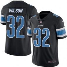2016 Nike Detroit Lions 32 Tavon Wilson Black Mens Stitched NFL Limited Rush Jersey
