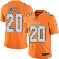 2016 Nike Miami Dolphins 20 Reshad Jones Orange Mens Stitched NFL Limited Rush Jersey
