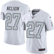 2016 Nike Oakland Raiders 27 Reggie Nelson White Mens Stitched NFL Limited Rush Jersey