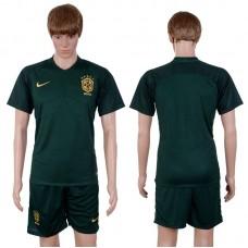 2017-2018 National Men Brazil Away Suits Soccer Jersey