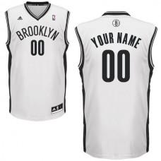 Adidas Brooklyn Nets Youth Custom Replica Home White NBA Jersey