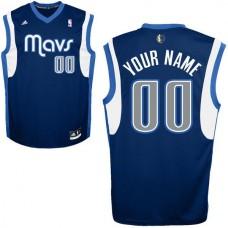 Adidas Dallas Mavericks Youth Custom Replica Alternate Blue NBA Jersey