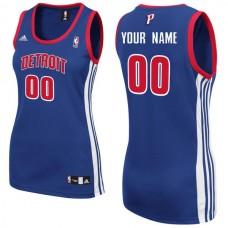 Adidas Detroit Pistons Women Custom Replica Road Blue NBA Jersey