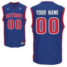 Adidas Detroit Pistons Youth Custom Replica Road Blue NBA Jersey
