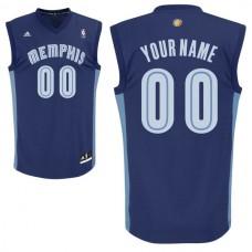 Adidas Memphis Grizzlies Youth Custom Replica Road Blue NBA Jersey