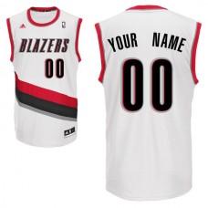 Adidas Portland Trail Blazers Youth Custom Replica Home White NBA Jersey