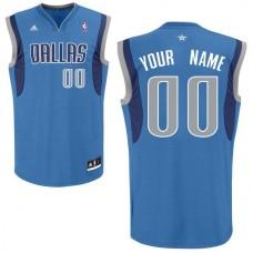 Men Adidas Dallas Mavericks Custom Replica Road Royal NBA Jersey