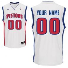 Men Adidas Detroit Pistons Custom Replica Home White NBA Jersey