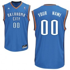 Men Adidas Oklahoma City Thunder Custom Replica Road Royal NBA Jersey
