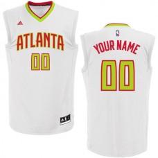 Men Atlanta Hawks Adidas White Custom Home Replica NBA Jersey