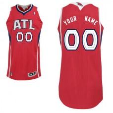 Men Atlanta Hawks Red Custom Authentic NBA Jersey