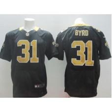2017 NFL Nike New Orleans Saints 31 Byrd black elite Jerseys