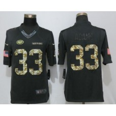 2017 NFL Nike New York Jets 33 Adams Anthracite Salute To Service Limited Jersey