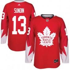 2017 NHL Toronto Maple Leafs Men 13 Mats Sundin red jersey