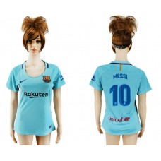2017-2018 Club Barcelona away aaa verion women 10 soccer jersey