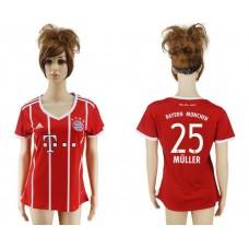 2017-2018 Club Bayern Munich home aaa verion women 25 soccer jersey