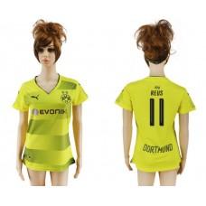 2017-2018 Club Dortmund home aaa verion women 11 soccer jersey