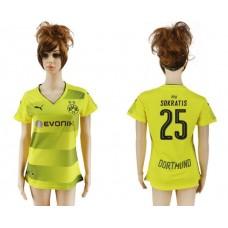 2017-2018 Club Dortmund home aaa verion women 25 soccer jersey