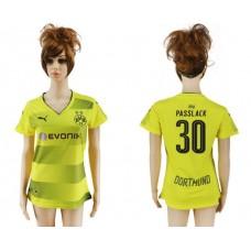 2017-2018 Club Dortmund home aaa verion women 30 soccer jersey