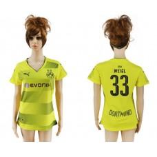 2017-2018 Club Dortmund home aaa verion women 33 soccer jersey