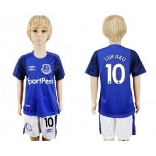 2017-2018 club Everton FC home kids 10 soccer jersey