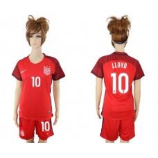 2017-2018 national women United States away 10 lloyd soccer jersey