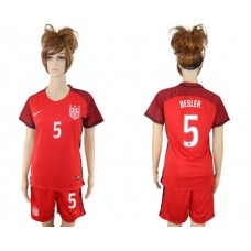 2017-2018 national women United States away 5 soccer jersey
