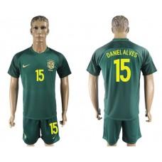 Men 2017-2018 National Brazil away 15 soccer jersey