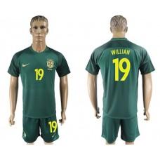 Men 2017-2018 National Brazil away 19 soccer jersey