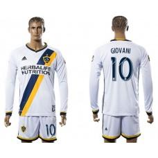 Men 2017-2018 club Los Angeles Galaxy home long sleeve 10 soccer jersey