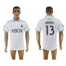Men 2017-2018 club Seattle Sounders away aaa version 13 white soccer jersey