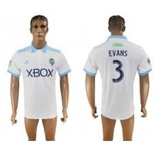 Men 2017-2018 club Seattle Sounders away aaa version 3 white soccer jersey