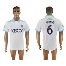 Men 2017-2018 club Seattle Sounders away aaa version 6 white soccer jersey
