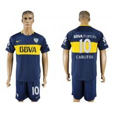 Men 2017-2018 club Boca Juniors home 10 blue soccer jersey