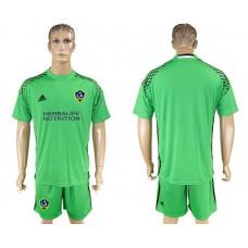 Men 2017-2018 club LA Galaxy goalkeeper green soccer jersey