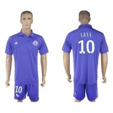 Men 2017-2018 club Marseille second away 10 purple soccer jersey