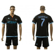 Men 2017-2018 club New York City FC away 7 black soccer jersey