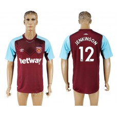Men 2017-2018 club West ham at home 12 red aaa version soccer jersey