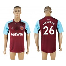 Men 2017-2018 club West ham at home 26 red aaa version soccer jersey