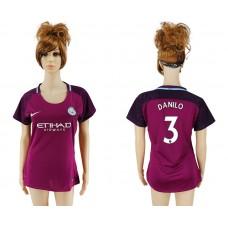 2017-2018 Club manchester city away aaa version women 3 soccer jersey