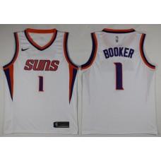 Men Phoenix Suns 1 Booker White Game Nike NBA Jerseys