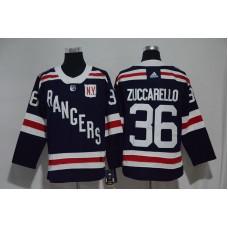 2017 Men NHL New York Rangers 36 Zuccarello blue Adidas jersey