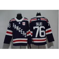 2017 Men NHL New York Rangers 76 Skjei blue Adidas jersey