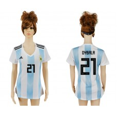 2018 World Cup Argentina home aaa version womens 21 soccer jersey