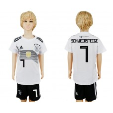 2018 World Cup Germany home kids 7 white soccer jersey
