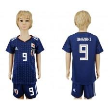 2018 World Cup Japan home kids 9 blue soccer jersey