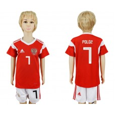 2018 World Cup Russia home kids 7 red soccer jersey
